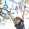 Ninja Slackline Ropes Obstacle Course for Kids with Monkey Bars