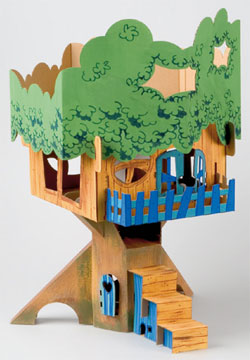 Calafant Treehouse Kids Arts and Crafts Product Review Build Your Own Treehouse from Cardboard
