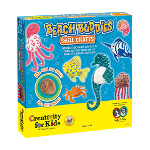 Beach Buddies Shell Crafts from Creativity for Kids