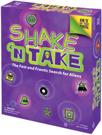 Shake 'n Take Alien Board Game