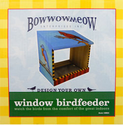 Design Your Own Window Birdfeeder from Bowwowmeow