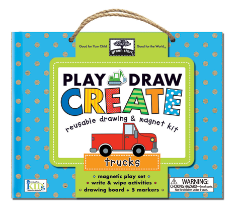 Green Start Play, Draw, Create: Trucks from innovativeKids Product Review