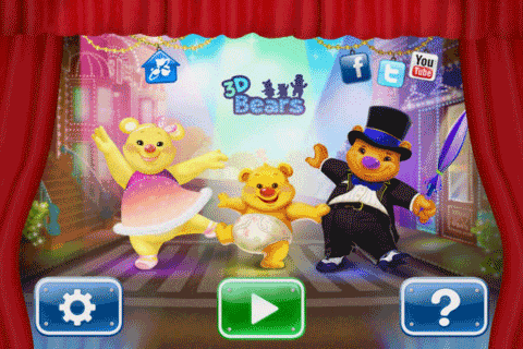 3D Bears iPad Android App for Babies and Kids from StormCellar