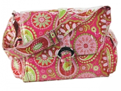 Kalencom Laminated Buckle Bag – Gypsy Paisley Cotton Candy Diaper Bag Product Review