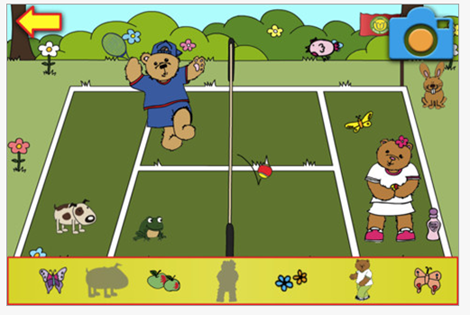 Teddy Tennis Sticker & Stamp Book App for iPad Product Review