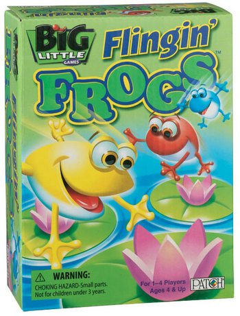 Big Little Games – Flingin' Frogs from Patch Products Kids Game Product Review