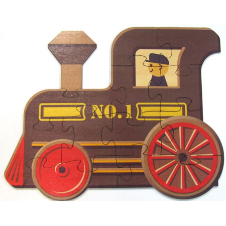 Shaped Train Engine Puzzles from Maple Landmark Woodcraft Kids Product Review