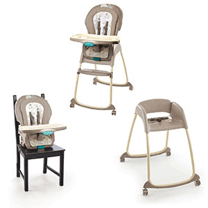 Ingenuity Trio 3-in-1 Deluxe High Chair – Sahara Burst – Baby Toddler High Chair Feeding Product Review